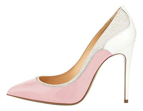 MONICOCO Übergröße Süßigkeit Farben Damenschuhe Spitze Zehen Geschlossene Toe Patchwork Pumps mit Stiletto Absatz Pink 42.5 EU - http://on-line-kaufen.de/monicoco/42-5-eu-monicoco-bergroesse-suessigkeit-farben-9