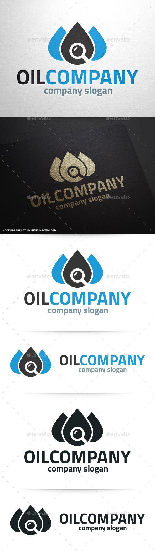 Oil Company Logo v2 - #logo #template #logodesign #oil #company #search #tracker #industry #business #vector #eps #ai #psd #graphicriver #envato #buy #sale