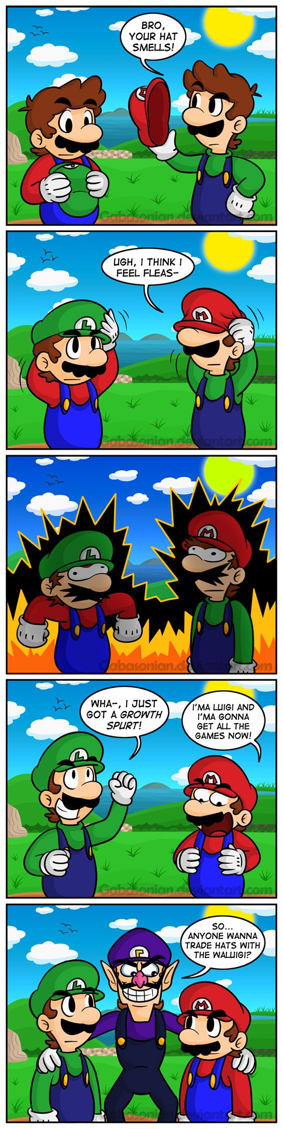 Super Mario 64 DS! Poor Waluigi