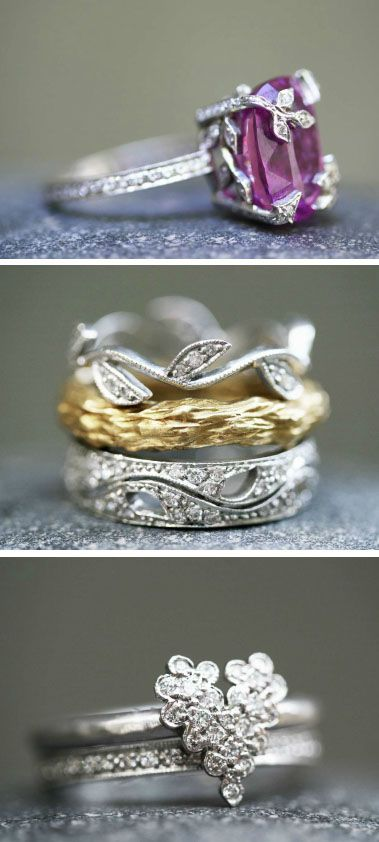 "Beautiful rings created by Cathy Waterman for her ""Love of My Life"" collection is the perfect wedding ring for the young woman who is like no other."