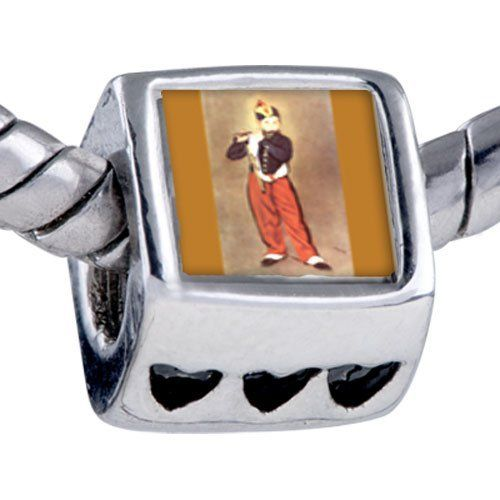 Pugster Manet's Art Fifer Beads - Chamilia Bead & Bracelet Compatible Pugster. $12.49. Fit Pandora, Biagi, and Chamilia Charm Bead Bracelets. It's the photo on the heart charm. Hole size is approximately 4.8 to 5mm. Unthreaded European story bracelet design. Bracelet sold separately