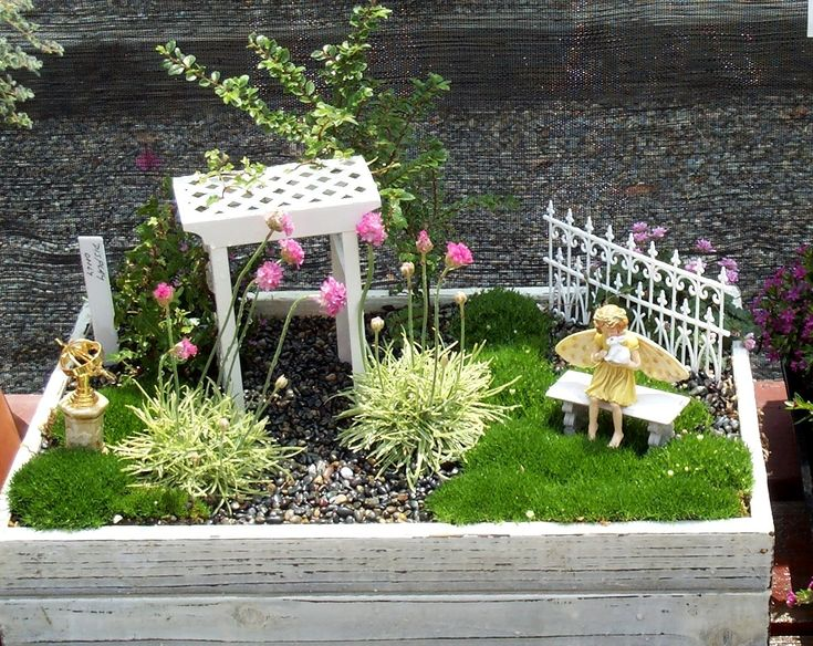 quaint fairy garden