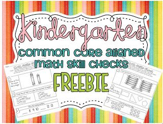 Common Core SUPER FREEBIE...oh yeah!!!22 aligned math skill checks!