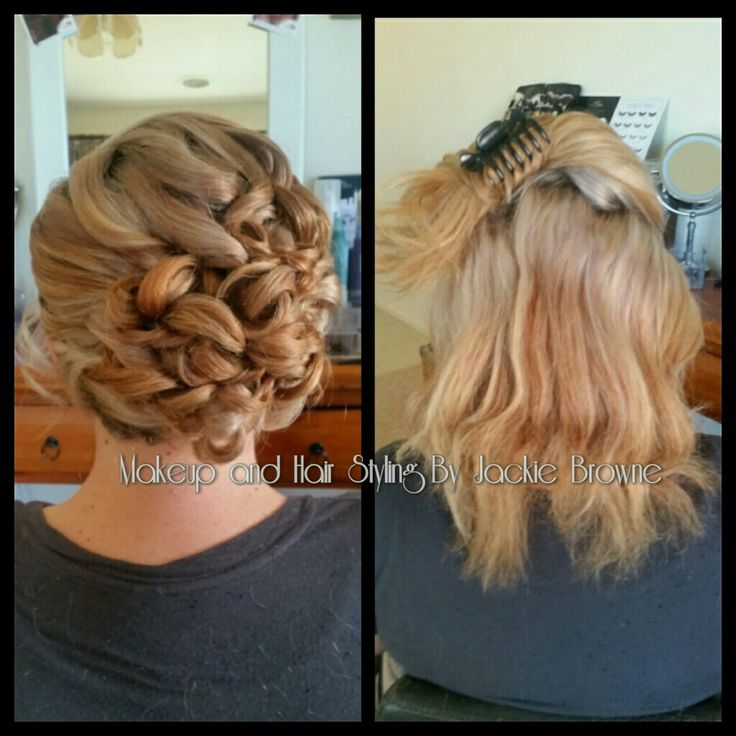 Gorgeous side curly upstyle for my bride
