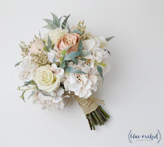 white greenery bouquet Wedding bouquet rose,eucalyptus peonies spring summer beach wedding boho bouquets bridal bridesmaids bouquets