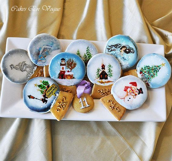 snow globe cookie wafer paper - Google Search | Incredible ... - photo#11