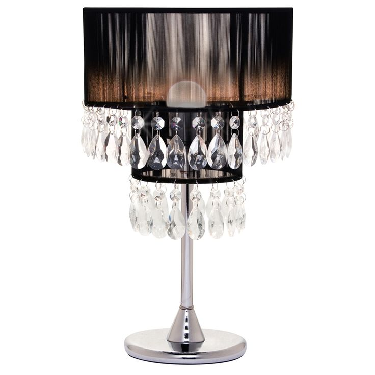 Cafe Lighting Diva Table Lamp #droplets #clearglass #beading