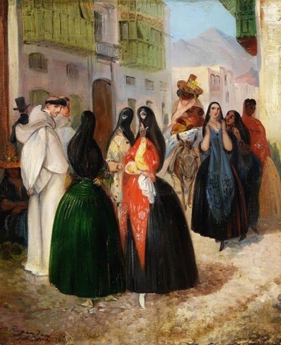 PINTORES VIAJEROS Johann Moritz Rugendas (German:1802–1858) - 'Street Scene in…
