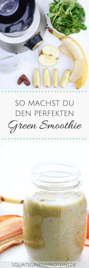 So machst du den perfekten Grünen Smoothie - Green Smoothie 101 - gluten free glutenfrei lactose free laktosefrei - Squats, Greens & Proteins