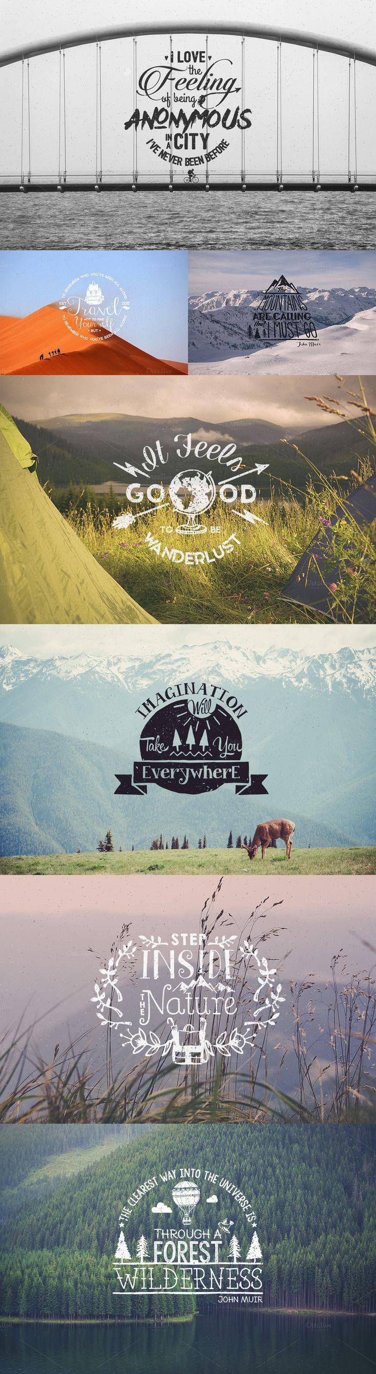 Wanderlust Logo Pack by Stella's Graphic Supply on Creative Market