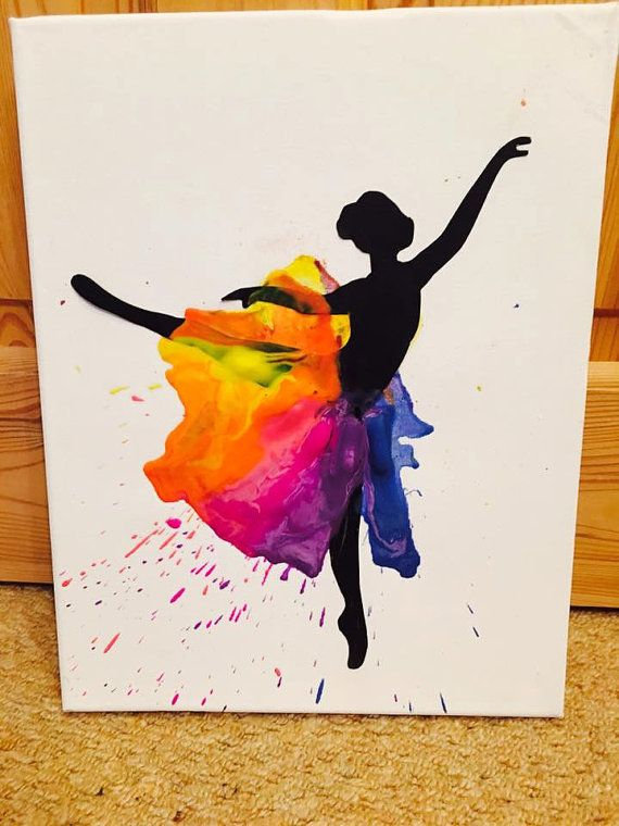 Ballerina Melted Crayon Art by GorgeousGiftsUK on Etsy