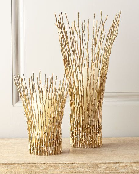 Gold Twig Kerzenhalter – TownandCountrymag …   – Halloween wreaths and diy ideas