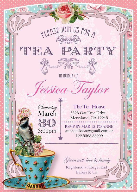 13 best Tea Party invitation inspiration/templates images on Pinterest