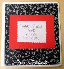 Make your own lesson plan book- super easy! via www.pre-kpages.com