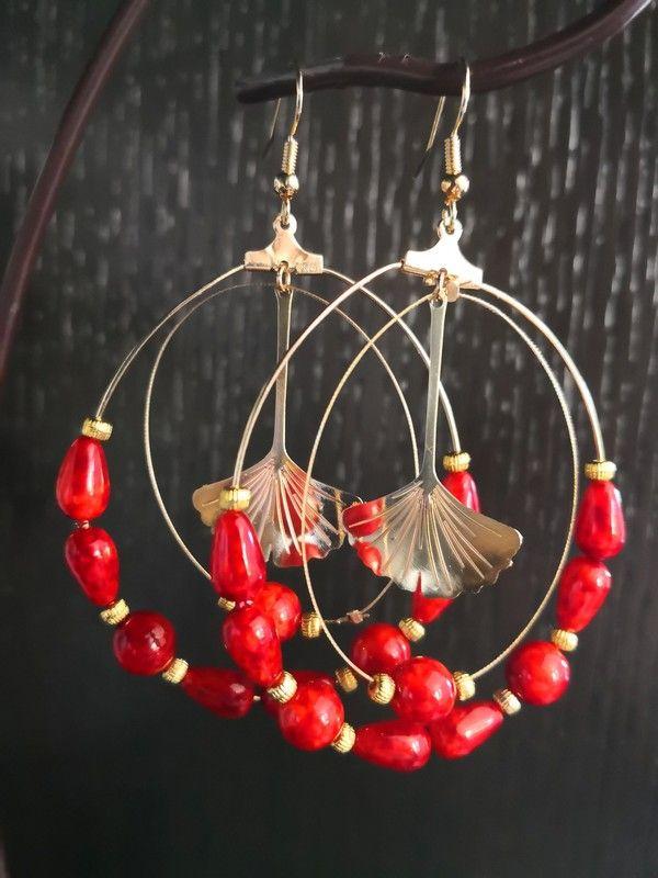 Art Déco vintage rétro style coeur ailes d/'ange boucles d/'oreilles