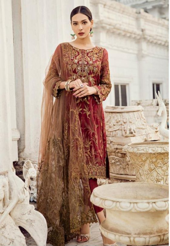 02c2899661 Deepsy Maria B-3 Georgette With Heavy Embroidered Suits 600-407 ...