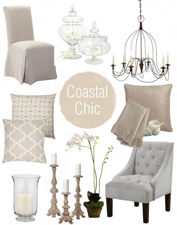 Coastal Chic This Might Be My Style Along With Some French Country Touches Coastallivingrooms