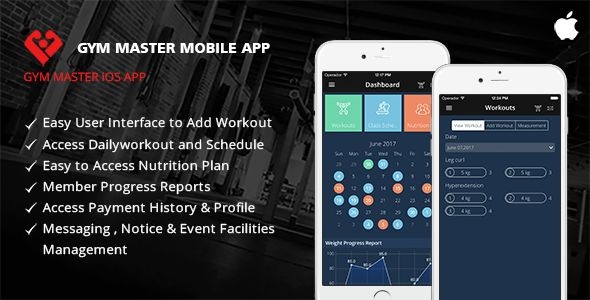 Gym Master Mobile App for iphone . Iphone Demo Link:https://itunes.apple.com/us/app/gym-master-application-for-ios/id1247754868?ls=1&mt=8