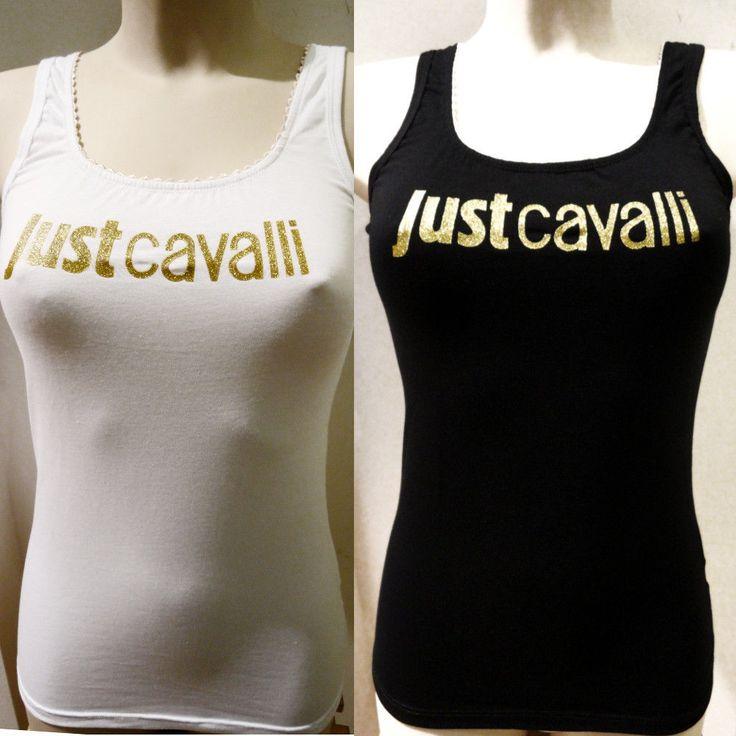 CAnotta Top Just CAvalli donna CAnottiera T shirt singlet Camisole танк сингле