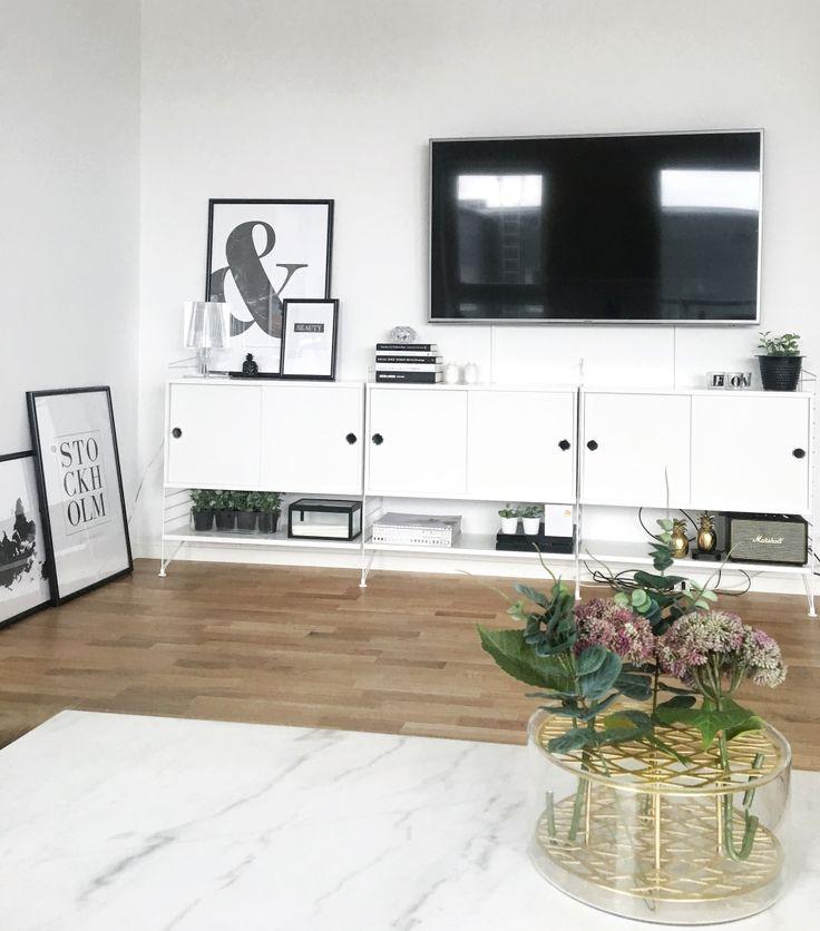 Bildresultat för stringhylla inspiration vardagsrum med tv