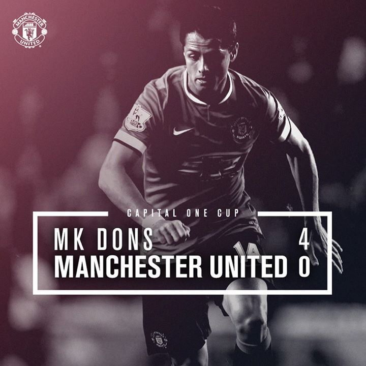 Capitol One Cup 2nd Round : MK Dons 4-0 MU (Grigg 25', 63', Afobe 69', 84') 26 August 2014 - MK