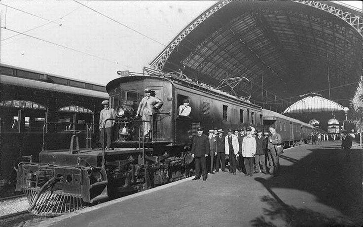 Interior Estación Mapocho, 1924