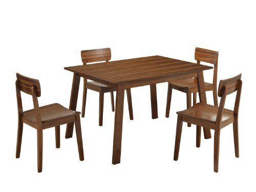 gg baxton studio 5 piece modern dining set 2. boraam 33212 zebra series 5-piece hagen dining room set, walnut by boraam. gg baxton studio 5 piece modern set 2