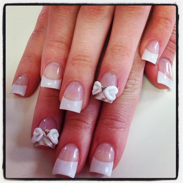Acrylic bows | Nail Designs by Pink Nails | Pinterest