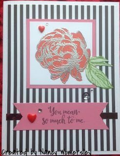 Papercrafting With Heart: January 2016 Stamp of the Month Bloghop
