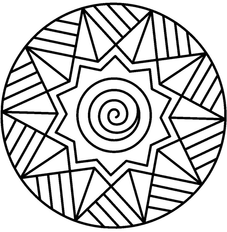 Spiral Mandala Coloring Pages Printable Sheet Boys