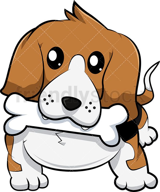 Beagle Dog Fetching Bone Beagle Dog Cartoon Dog Beagle