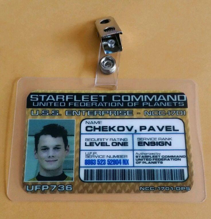 Star Trek Enterprise ID Badge-Starfleet Command Ensign Pavel Chekov