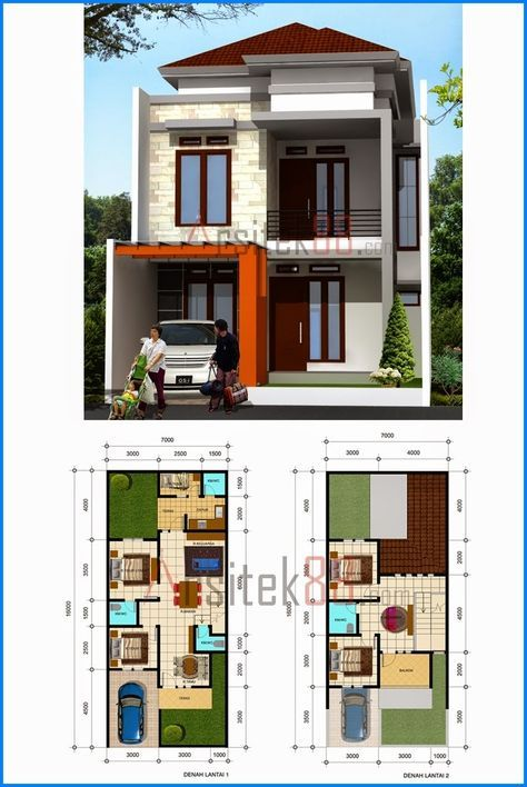 36 best Home images on Pinterest Small houses, Little houses and - plan maison plain pied 80m2