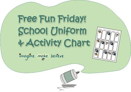 Back to School, Free, Children, organisation uniforms chart #backtoschool #kids #children #chart #organisation