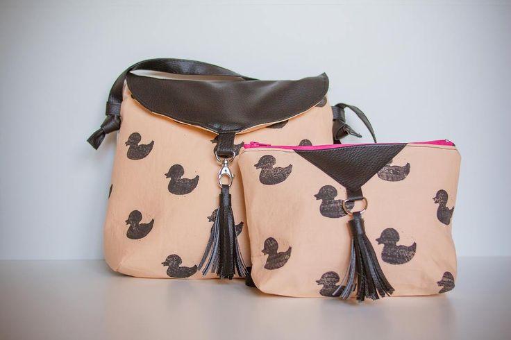 crossbody & cosmetic bag set