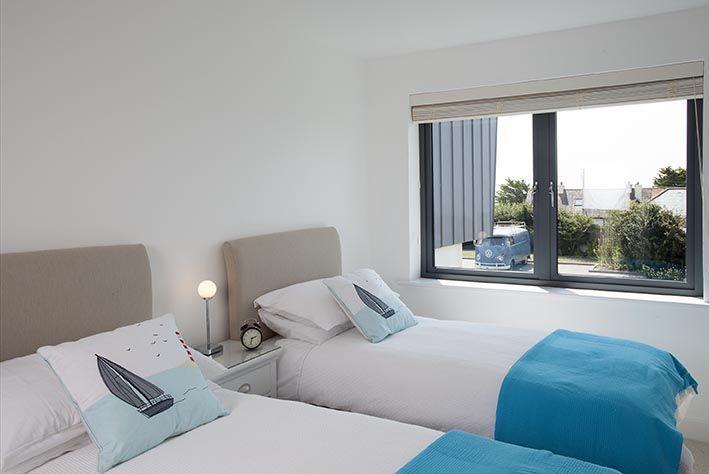 Twin bedroom, the blue room