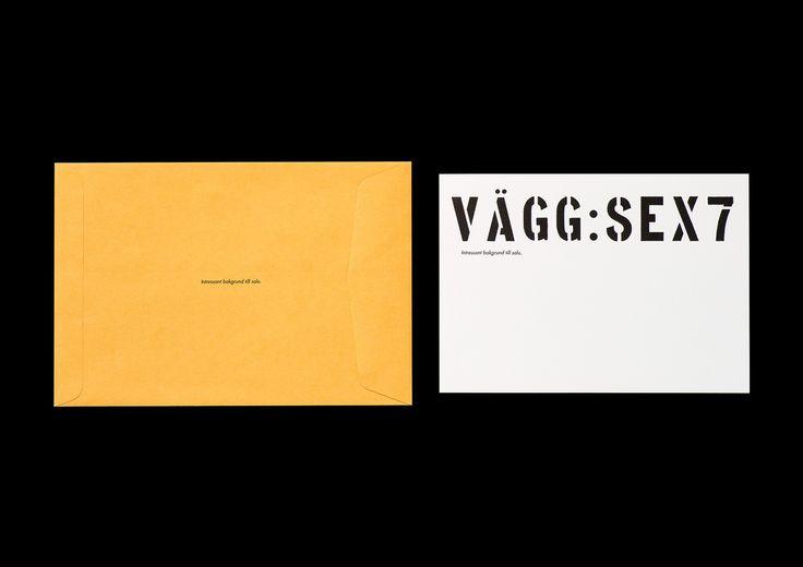 Identitet för fotografagenturen Camera Link till galleriet Vägg: Sex7 i Stockholm. Namn, logotype, typografi, inbjudningar, stationery m.m.   Textförfattare: Mattias Jersild. I samarbete med art directors Lars Liljendahl och Greger Ulf Nilson, 1997–98.