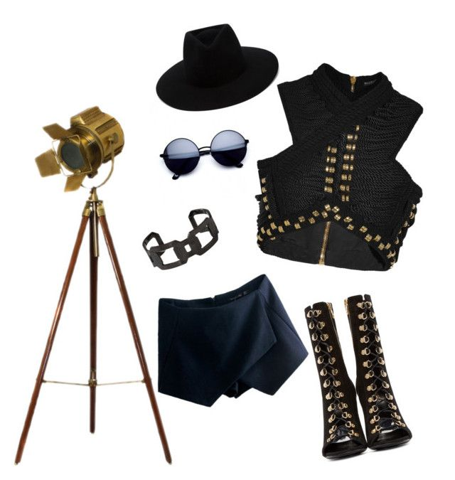 Let's rock! by amaliamatei on Polyvore featuring polyvore fashion style Balmain Rebecca rag & bone clothing black