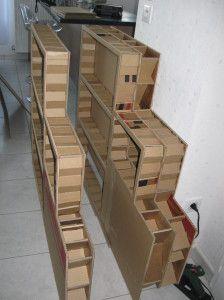 oltre 25 fantastiche idee su mobili di cartone su pinterest oggetti di artigianato realizzati. Black Bedroom Furniture Sets. Home Design Ideas
