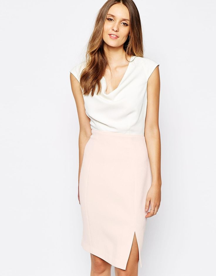 Image 1 of Reiss Cipria Dress with Drape Detail the style here brings a unique style to the dress, really like it