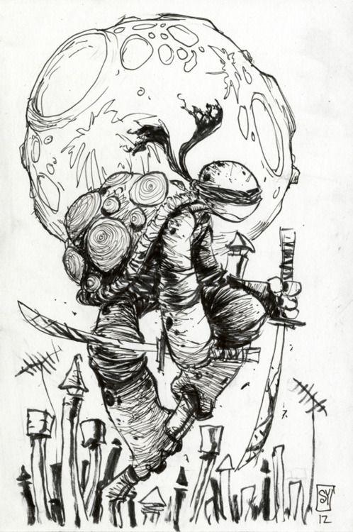 Leonardo's TMNT by Skottie Young