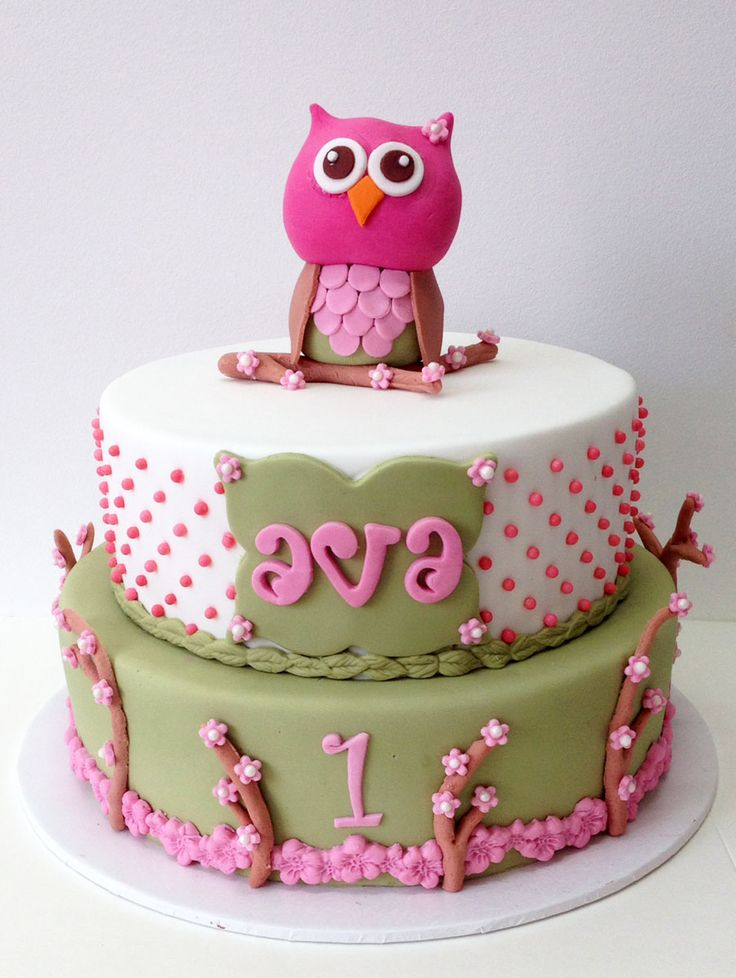 Woodland Owl Cake Like us at www.facebook.com/melianndesigns