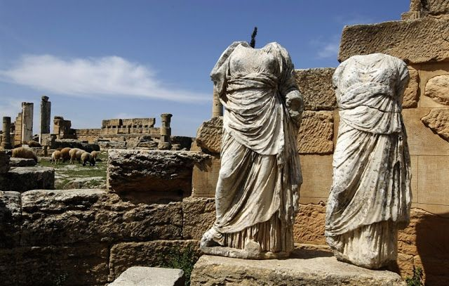 SHAHAT, LIBYA - It was the oldest and most important of the five Greek cities in the region and gave eastern Libya the classical name Cyrenaica that it has retained to modern times. Cyrene The city was named after a spring, Kyre, which the Greeks consecrated to Apollo. It was the seat of the Cyrenaics, a famous school of philosophy in the 3rd century BC, founded by Aristippus, a disciple of Socrates.