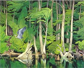 """A. J. Casson - """"Blue heron""""; Canadian Group of Seven"""