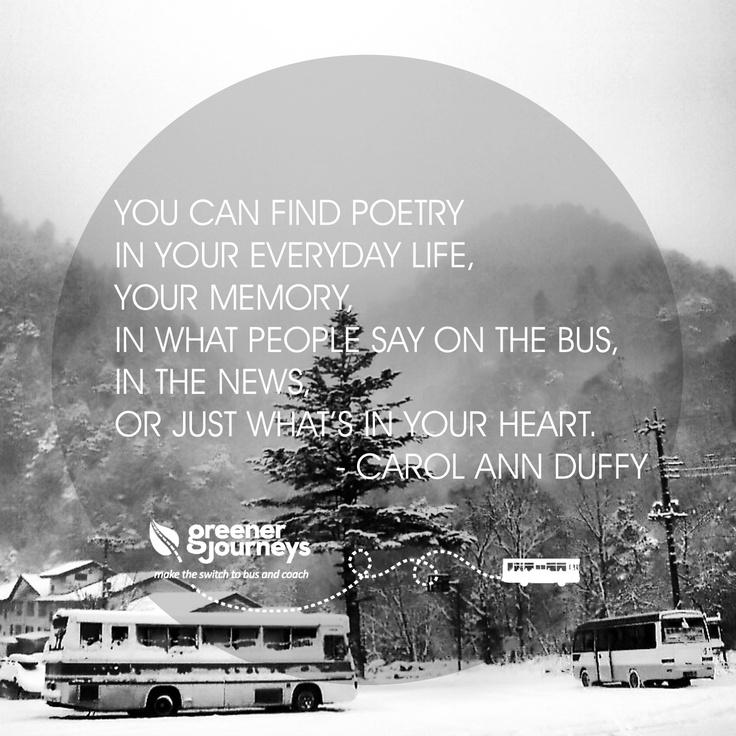 Carol Ann Duffy on the Bus