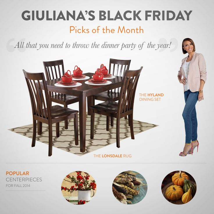 Giuliana's last round of Black Friday picks! Be sure to get your favorites at your local Ashley Furniture HomeStore.