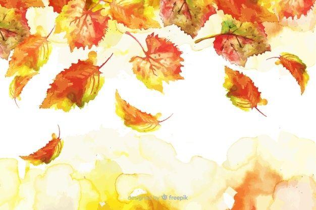Download Watercolor Gradient Autumn Leaves Background For Free In 2020 Autumn Leaves Background Leaf Background Autumn Leaves