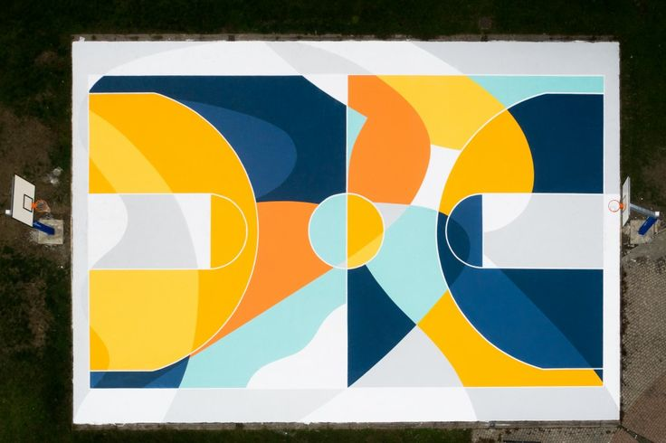 basketball court by Sicilian artist Gue