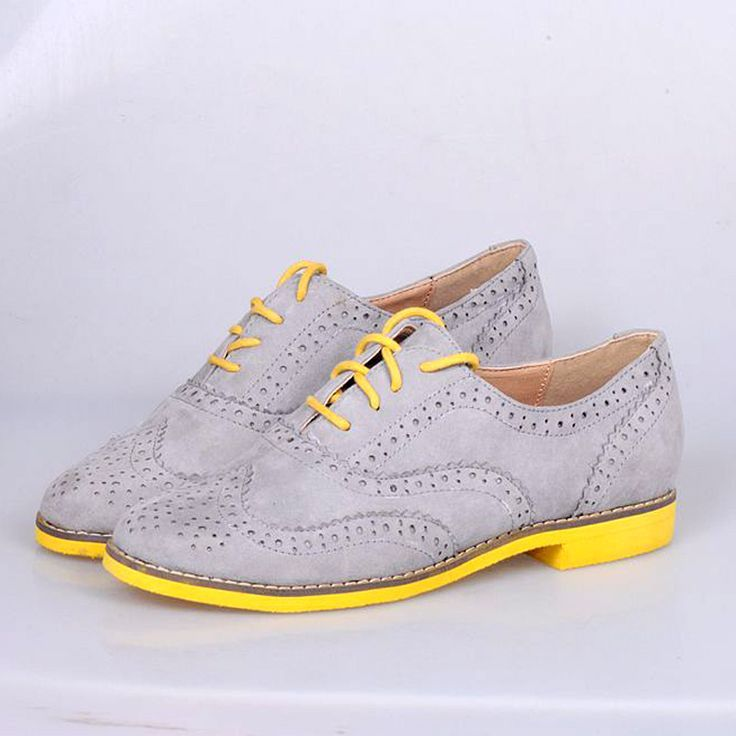 Tendance & idée Chaussures Femme 2016/2017 Description Flatbottomed vintage handsome fashion preppy style brockden lacing shoes flat heel lace up women oxf