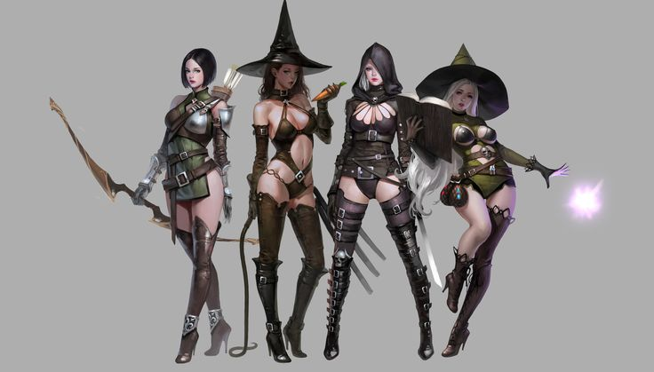 ArtStation - girls, J.Won Han